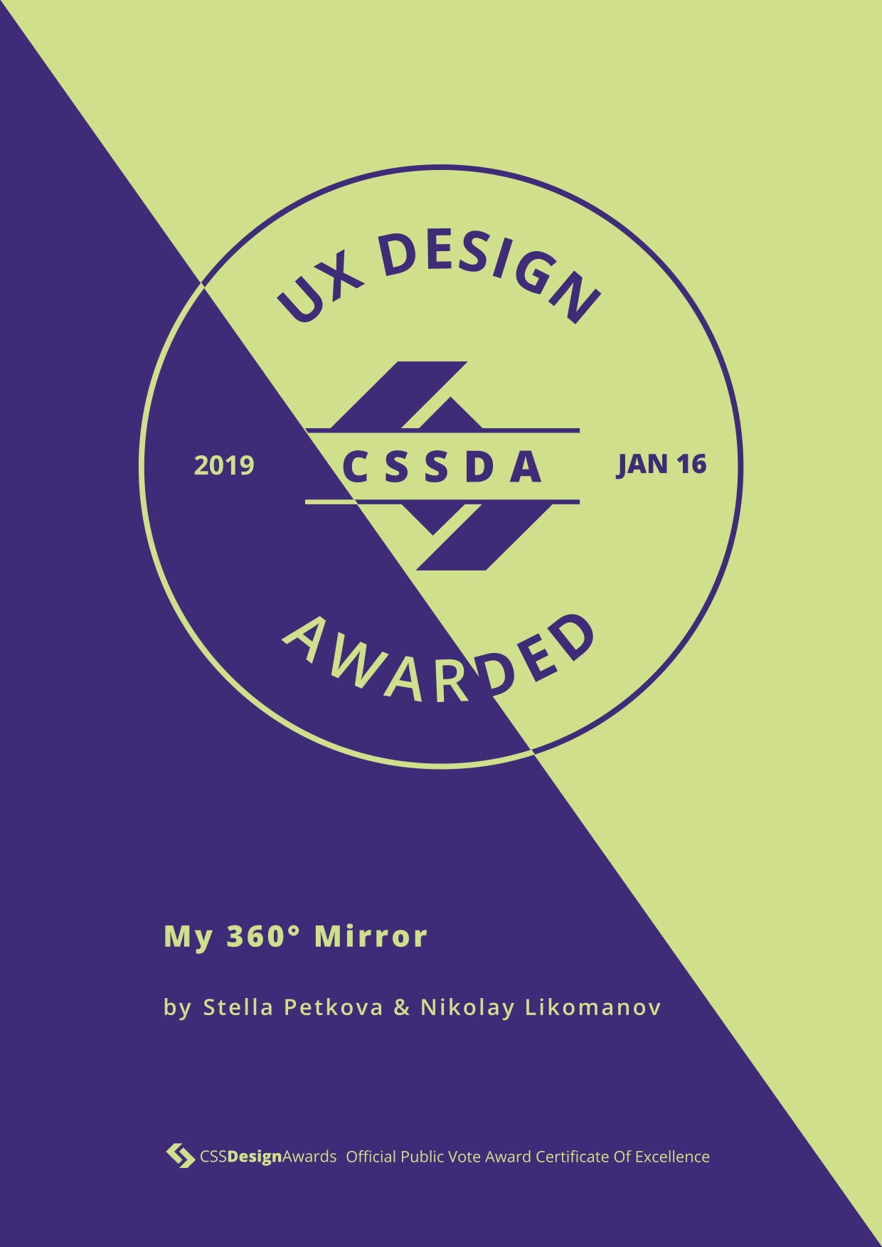 CSS Design UX Innovation Certificate - My 360 Mirror